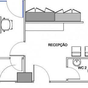 Layout do escritorio regional da GETNET em Brasilia