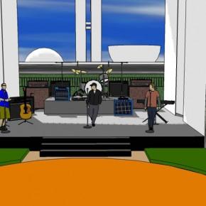 Arena para programa de auditório na esplanada